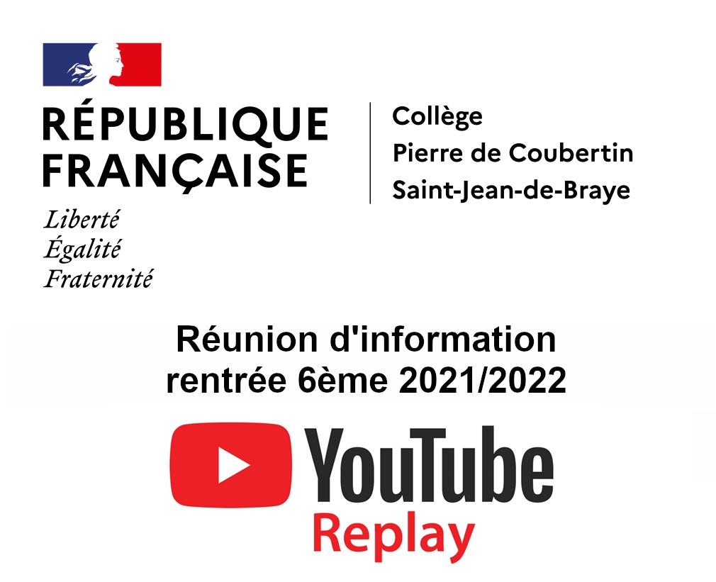 Informations 6ème – rentrée 2021/2022